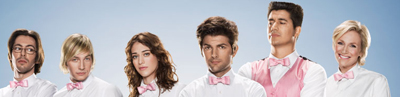 Party Down Season 1 Adam Scott Ken Marino Lizzy Caplan Ryan Hansen Martin Starr Jane Lynch ennifer Coolidge Ken Jeong Kristen Bell