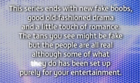"""""""This show is not real, but we will pretend it is"""""""