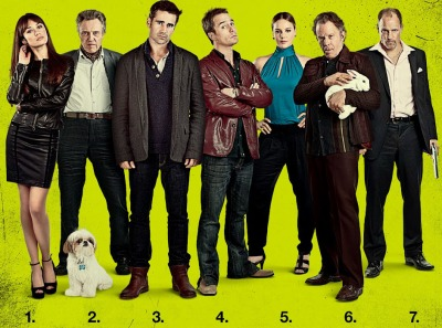 Seven Psychopaths Martin McDonagh, Colin Farrell, Sam Rockwell, Woody Harrelson, Tom Waits, and Christopher Walken, Abbie Cornish, Olga Kurylenko Željko Ivanek, Gabourey Sidibe, Kevin Corrigan