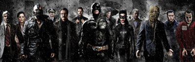 The Dark Knight Trology Cast Harvey Dent Bane Gordon Ra's al Ghul Batman Catwoman Scarecrow Joker