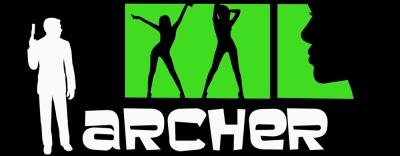 Archer Logo - Sterling Malory Archer, H. Jon Benjamin, Lana Kane, Aisha Tyler, Malory Archer, Jessica Walter, comptroller, Cheryl Tunt, Judy Greer, Cyril Figgis, Chris Parnell, Pam Poovey