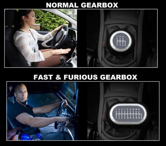 FAST FURIOUS GEARBOX
