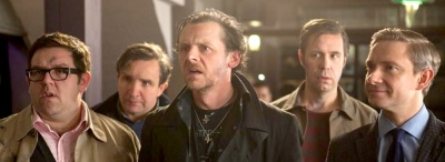 The World's End 01 Simon Pegg, Nick Frost, Paddy Considine, Martin Freeman, Eddie Marsan, Rosamund Pike, Edgar Wright, Pierce Brosnan, Bill Nighy, Rafe Spal, Steve Oram,