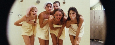 Porkys 01 - Shower Scene Peephole Dan Monahan, Wyatt Knight, Mark Herrier, Roger Wilson, Tony Ganios, Cyril O'Reilly, Kaki Hunter, Nancy Parsons, Boyd Gaines, Kim Cattrall, Susan Clark