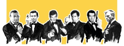James Bond 007 Everything or Nothing Sean Connery George Lazenby Roger Moore Timothy Dalton Pierce Brosnan Daniel Craig