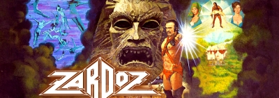 Zardoz Blu Ray Menu Sean Connery, Charlotte Rampling, Sara Kestelman, John Alderton, Sally Anne Newton, Niall Buggy, Bosco Hogan, Jessica Swift,