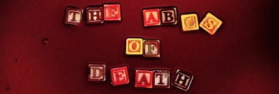 ABCs of Death Blood Baby Blocks Letters Logo