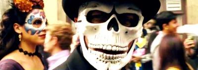 Spectre Mask Mexico Festival Street Party Daniel Craig, Christoph Waltz, Léa Seydoux, Ben Whishaw, Naomie Harris, Dave Bautista, Andrew Scott, Monica Bellucci, Ralph Fiennes, Rory Kinnear, Jesper Christensen,
