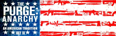 The Purge Anarchy Flag Banner Poster Landscape Stars Stripes Frank Grillo, Carmen Ejogo, Zach Gilford, Kiele Sanchez, Zoë Soul, Justina Machado, John Beasley, Jack Conley, Noel G., Michael K. Williams