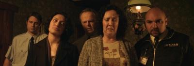 Housebound Cast Morgana O'Reilly, Rima Te Wiata, Glen-Paul Waru, Cameron Rhodes, Ross Harper, Ryan Lampp
