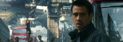 Total Recall Remake London Big Ben Colin Farrell , Kate Beckinsale, Jessica Biel, Bryan Cranston, Bokeem Woodbine, Bill Nighy, John Cho, Steve Byers, Ethan Hawke,
