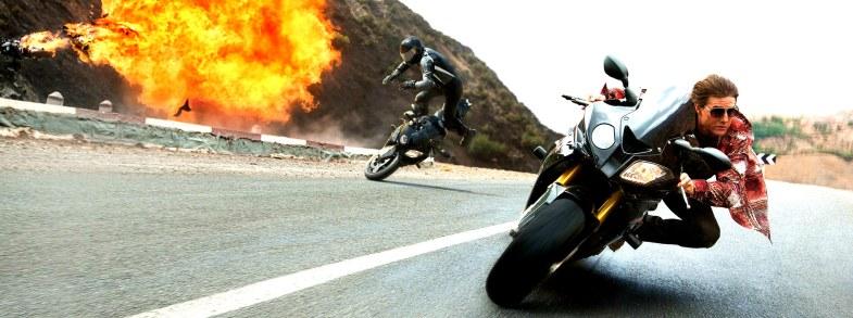 Mission Imposssible 5 Rogue Nation Superbikes Motorbikes Tom Cruise, Simon Pegg, Jeremy Renner, Rebecca Ferguson, Ving Rhames, Sean Harris, Alec Baldwin, Jens Hultén, Simon McBurney,