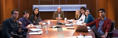 Newsroom Cast AMC Aaron Sorkin, Jeff Daniels, Emily Mortimer, John Gallagher, Jr., Alison Pill, Thomas Sadoski, Dev Patel, Olivia Munn, Sam Waterston, Hope Davis, Chris Chalk