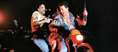 Demons, Dèmoni, 1985 Dirtbike Samurai Punk Demon Motorcycle, Urbano Barberini, Natasha Hovey, Fiore Argento, Geretta Giancarlo, Michele Soavi, Paola Cozzo, Karl Zinny, Stelio Candelli, Giovanni Frezza, Lamberto Bava, Dario Argento