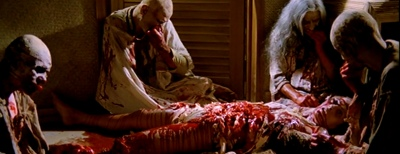 Zombie Flesh Eaters, Zombi 2 The Dead are Among Us, Blood Guts Intestines Tisa Farrow, Ian McCulloch, Richard Johnson, Al Cliver, Auretta Gay, Stefania D'Amario, Olga Karlatos, Lucio Fulci