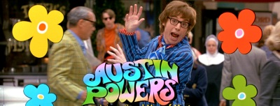Austin Powers Logo Title Mike Myers, Elizabeth Hurley, Robert Wagner, Seth Green, Mindy Sterling, Michael York, Fabiana Udenio, Will Ferrell, Mimi Rogers, Joe Son, Carrie Fisher, Burt Bacharach, Cindy Margolis