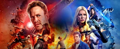 Sharknado The 4th Awakens Ian Ziering, Tara Reid, Tommy Davidson, Masiela Lusha, Ryan Newman, Cody Linley, Imani A. Hakim, Cheryl Tiegs, Gary Busey, David Hasselhoff, The Chippendales,